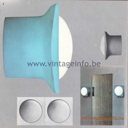 Raak Amsterdam Light Catalogue 8 - 1968 - Raak C-1800 Wall Lamp