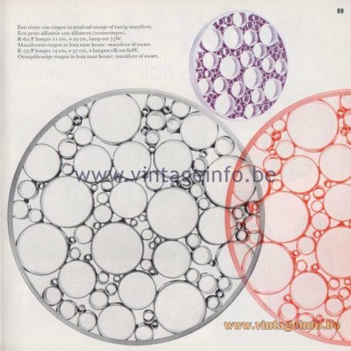 Raak Amsterdam Light Catalogue 8 - 1968 - Raak Flush Mounts R-72/P, R-62/P - Alliance