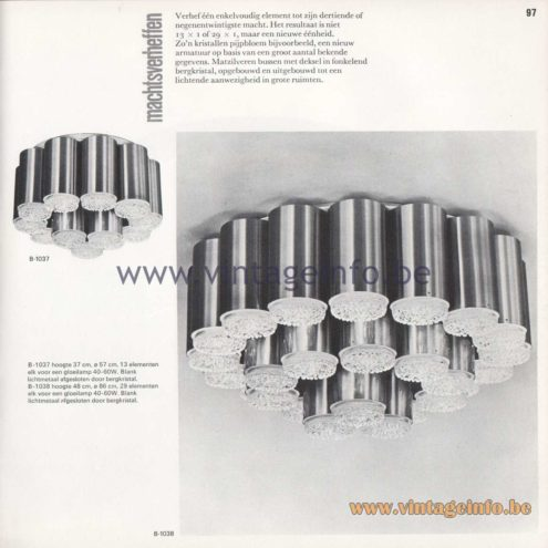 Raak Amsterdam Light Catalogue 8 - 1968 - Raak Flush Mount B-1037 - Machtsverheffen - Exponentiation