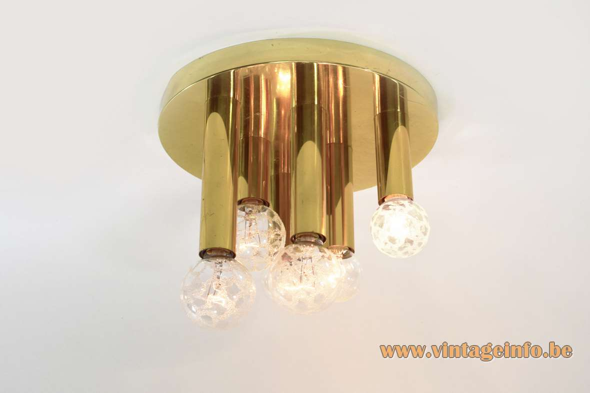 S.A. Boulanger Brass Flush Mount