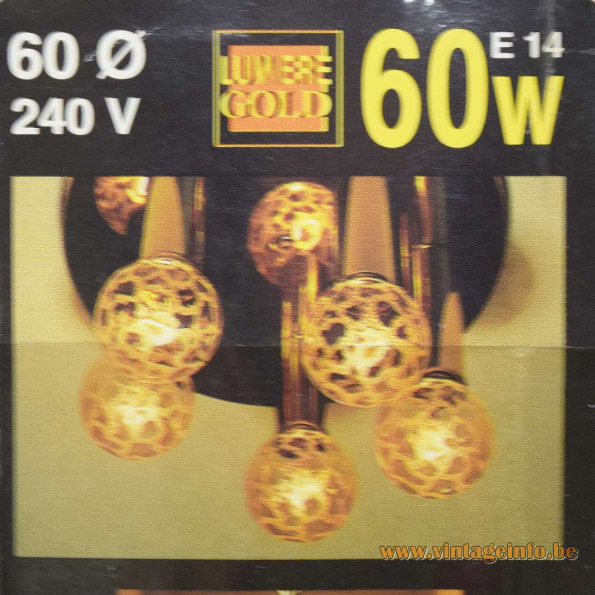 Paulmann Goldlight Light Bulbs E14, 60 Watt