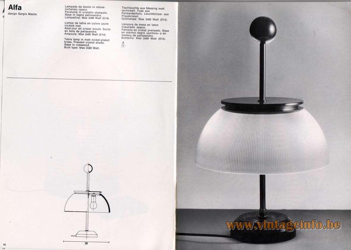 Lampada Da Studio Design artemide studioa catalogue 1976 – vintageinfo – all about