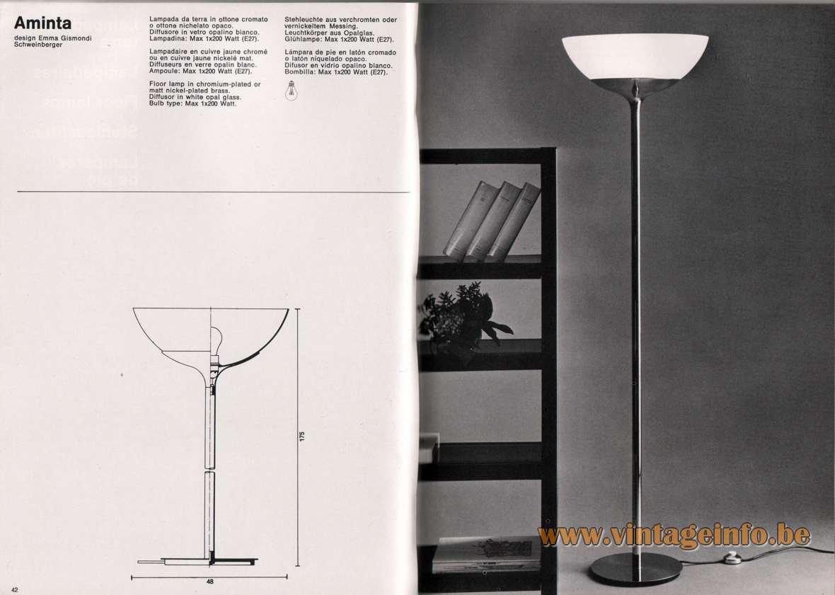 Lampada Da Studio Design artemide studioa catalogue 1976 - page 3 – vintageinfo – all