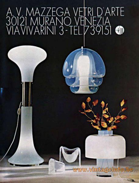AV Mazzega publicity 1970s design: Carlo Nason