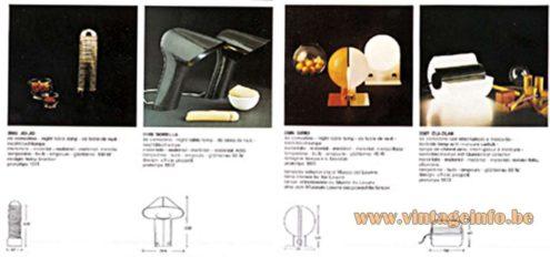 Harvey Guzzini Sorella Desk Lamp - Catalogue 1972