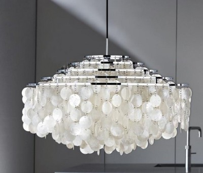 Placuna Placenta Table Lamps - Verner Panton - Fun Chandelier
