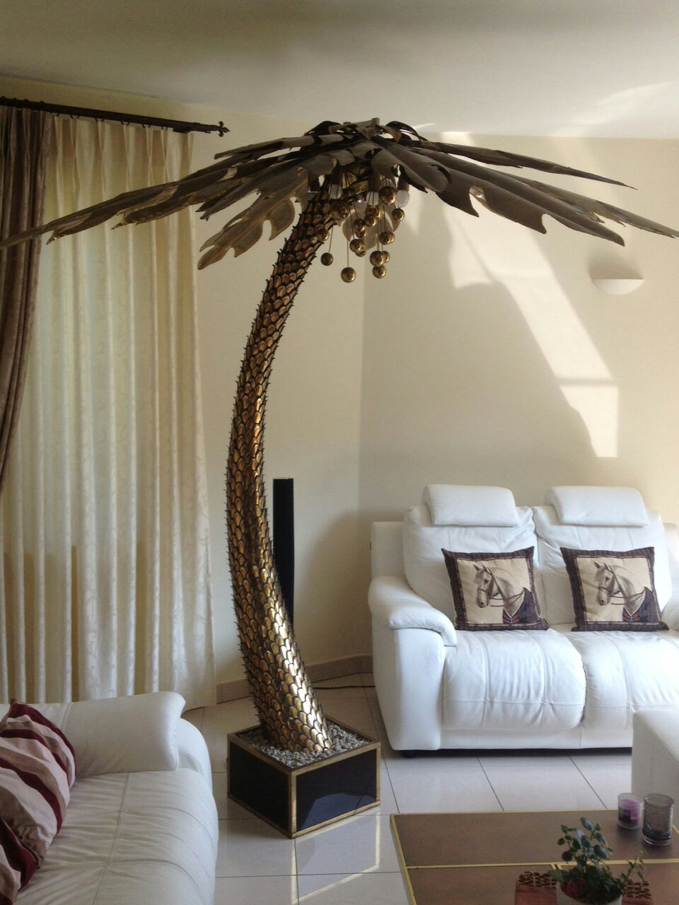 Maison Jansen Palm Trees Floor Lamp Vintage Info