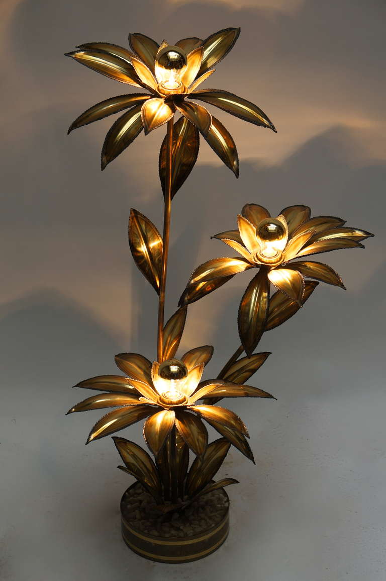 Maison Jansen Flowers Floor Lamp