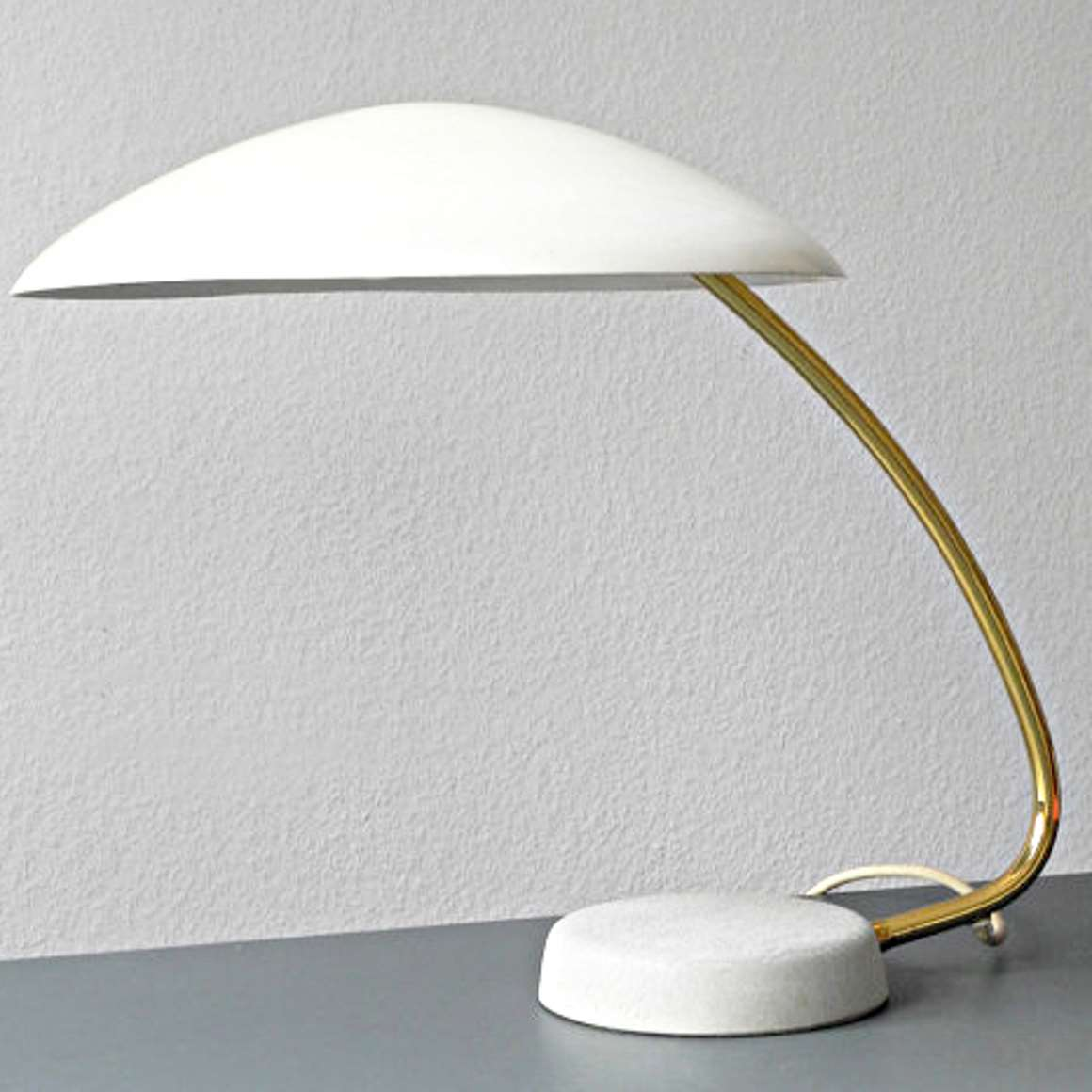 1950s Cosack Desk Lamp - White version - Produced by Gebrüder Cosack (Gecos)