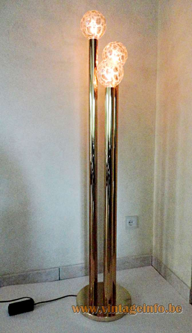 Gaetano Sciolari Brass Floor Lamp