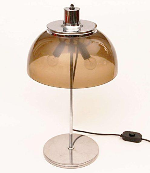 Harvey Guzzini Faro Table Lamp - transparent smoked acrylic