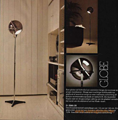 Raak Globe Floor Lamp - Catalogue 11 - 1978