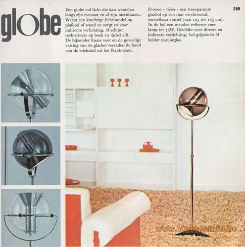 Raak Globe Floor Lamp - Catalogue 8 - 1968
