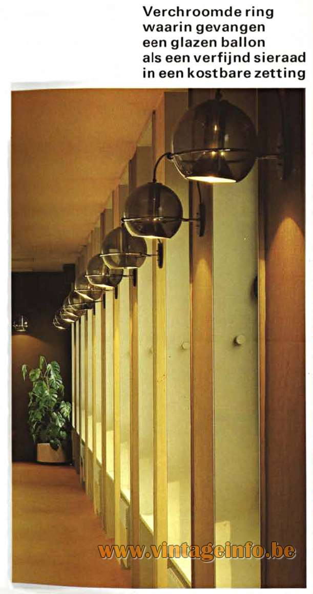 Raak Globe Floor Lamp - Raak Globe Wall Lamps - catalogue 11 - 1978