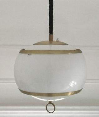 Stilux Rise & Fall Acrylic Pendant Lamp - Gold coloured anodized aluminium