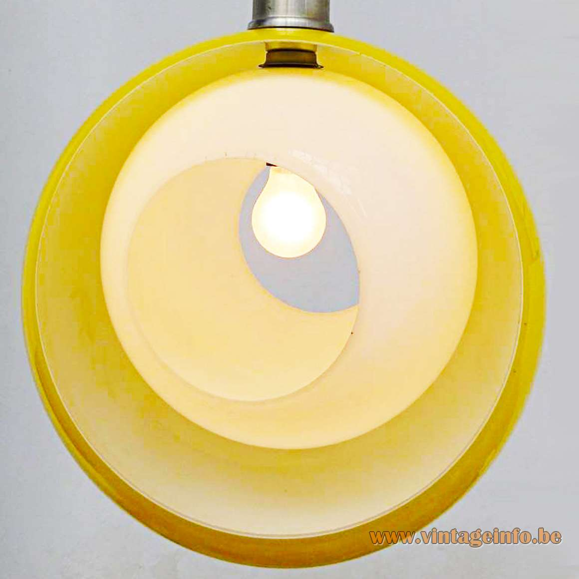 AV Mazzega Eclipse Pendant Lamp - yellow and white