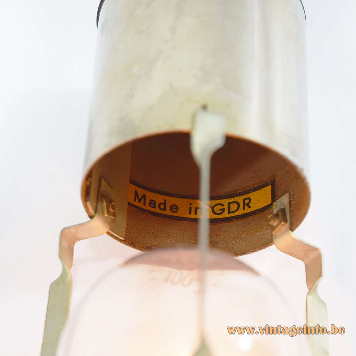 East German Table Lamp - Made in GDR label