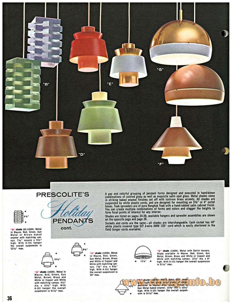 Nordisk Solar Pendant Lamp - Nordisk Solar Prescolite Catalogue