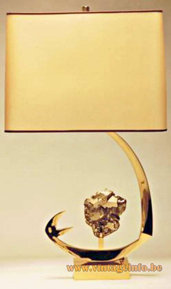 Pierre Faveere Agate Geode Table Lamp - Willy Daro Pyrite Table Lamp