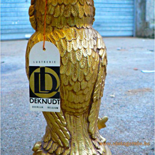 Loevsky & Loevsky Owl Table Lamp - Deknudt label