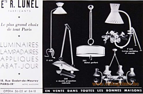 Lunel France Publicity 1953 - advertisement