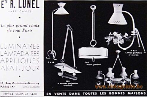 Lunel Paris, France lighting publicity 1953