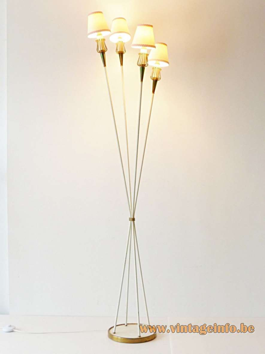 Lunel 4 lights 1950s Floor Lamp