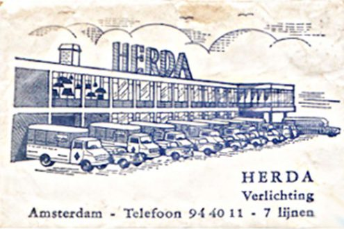 Herda Verlichting B.V. Amsterdam The Netherlands publicity telephone number with 7 lines