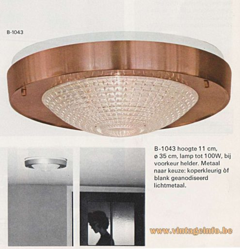 Raak B-1043 Flush Mount - Raak Catalogue 8 - 1968 - page 85