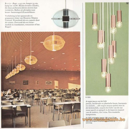 Raak Orbiter/Sphere Pendant Lamp - Raak Roger! - B-1171 - Catalogue 8 - 1968