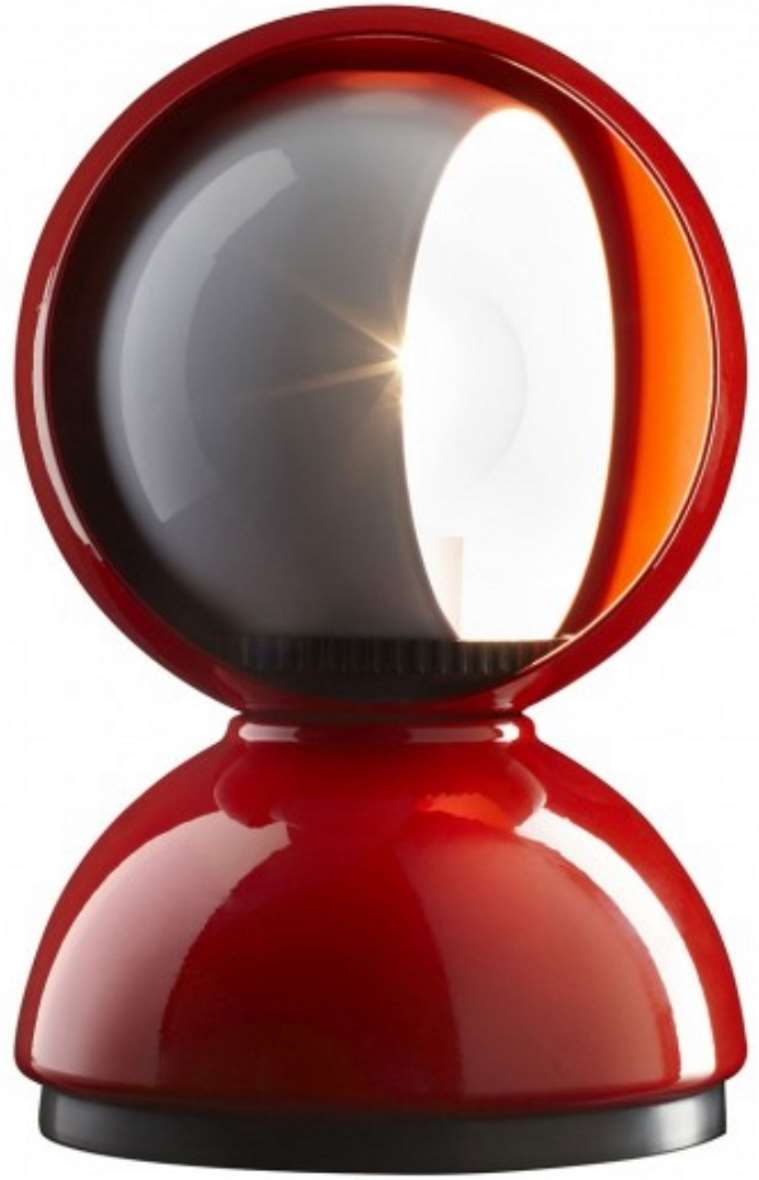 Artemide Eclisse Table Lamp - Red new version