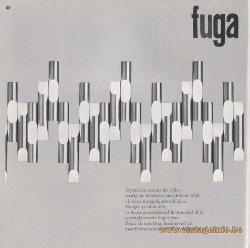 Raak Fuga Wall Lamp Catalog 8 - 1968