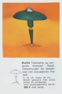 Louis Kalff Bijou Desk Lamp Catalogue