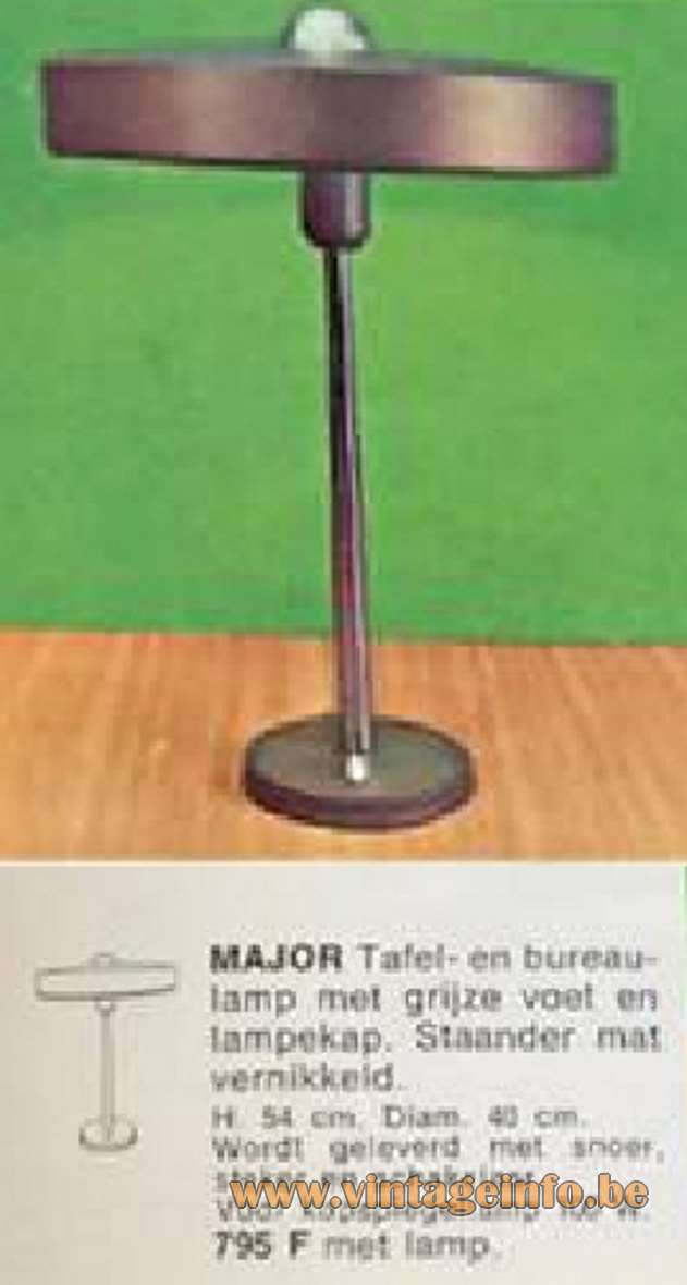 Philips Major Desk Lamp - catalogue picture