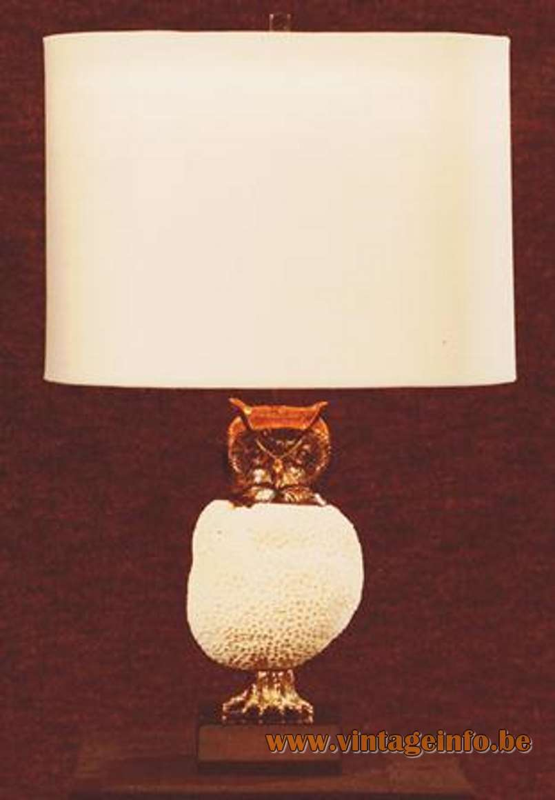 Willy Daro Owl Coral Lamp