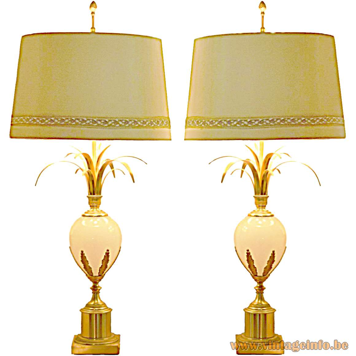 Boulanger Reed Table Lamps - Boulanger Ostrich Egg Table Lamps