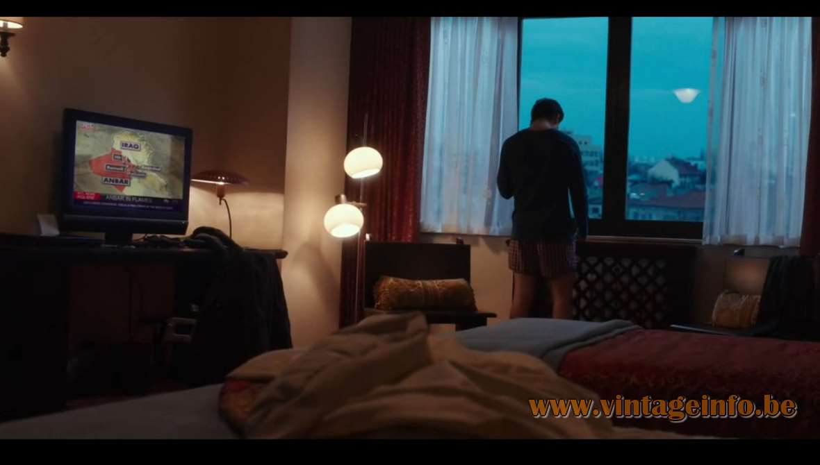 Louis Kalff Junior and Dijkstra Floor Lamp used as a prop in the film War Dogs (2016) Lamps in the movies!