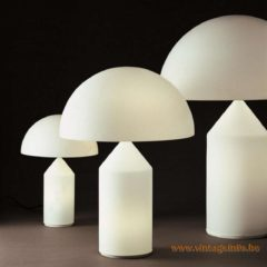 Oluce Atollo Table Lamps, Vico Magistretti design in 1977, Murano Glass, 3 sizes