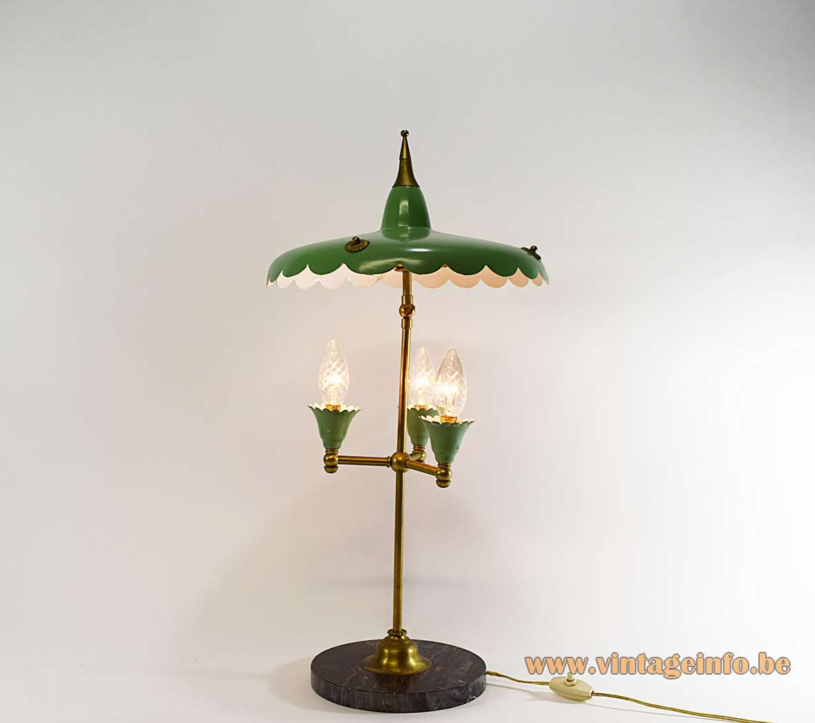 1950s Italian Parasol Table Lamp