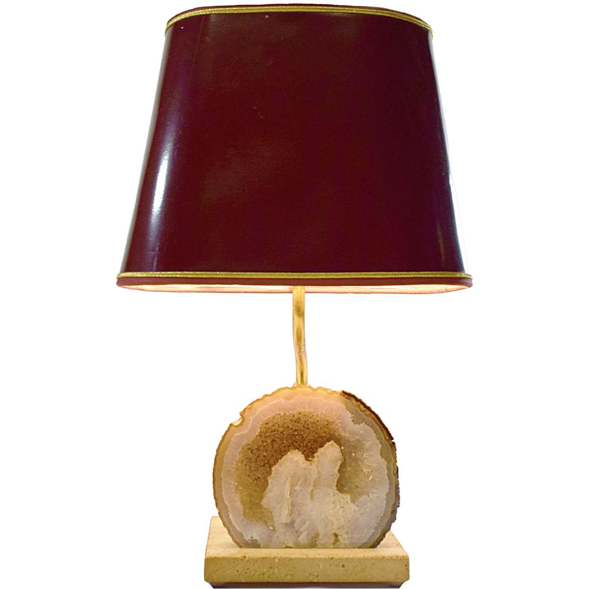 Pierre Faveere Agate Geode Table Lamp