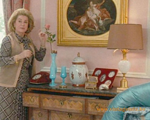 "A Boulanger ostrich egg table lamps used as a prop in the movie ""Potiche"" with Catherine Deneuve and Gérard Depardieu in 2010."