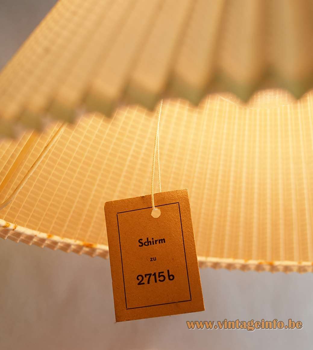 Diabolo pendant lamp beige folded cotton wrapped around steel wire frame 1950s 1960s Yo-Yo label