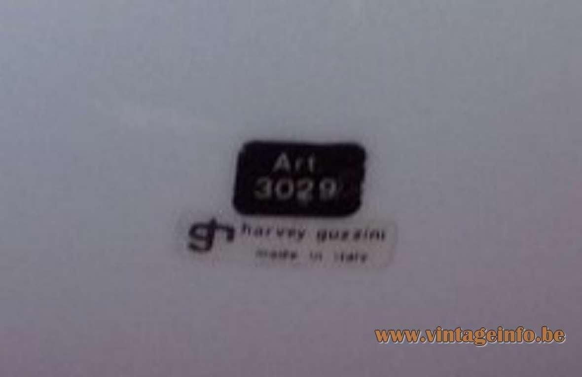 Harvey Guzzini Bud Pendant Lamp acrylic Design: 1968 Studio 6G IGuzzini Grande Meblo label