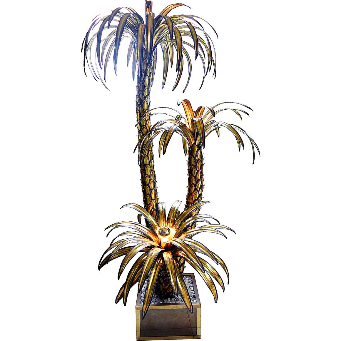 Maison Jansen 3 Palm Trees Floor Lamp