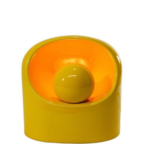 Marcello Cuneo Table Lamp yellow enamelled ceramics Philips Venezia 1970s vintage design SC3 Gabbianelli Ghieri