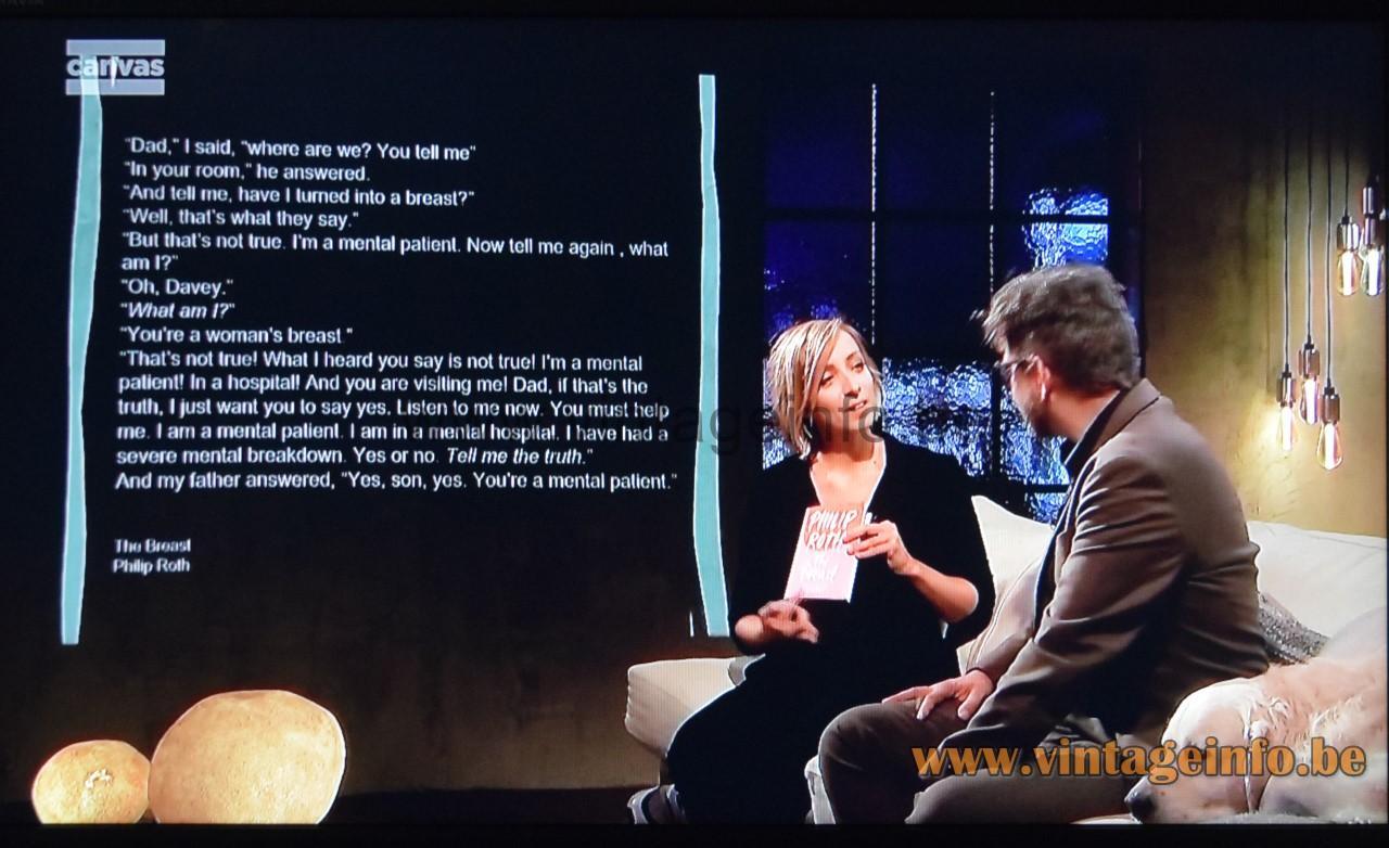 André Cazenave Dorra floor lamps appear in TV show Winteruur by Wim Helsen for Canvas TV Belgium