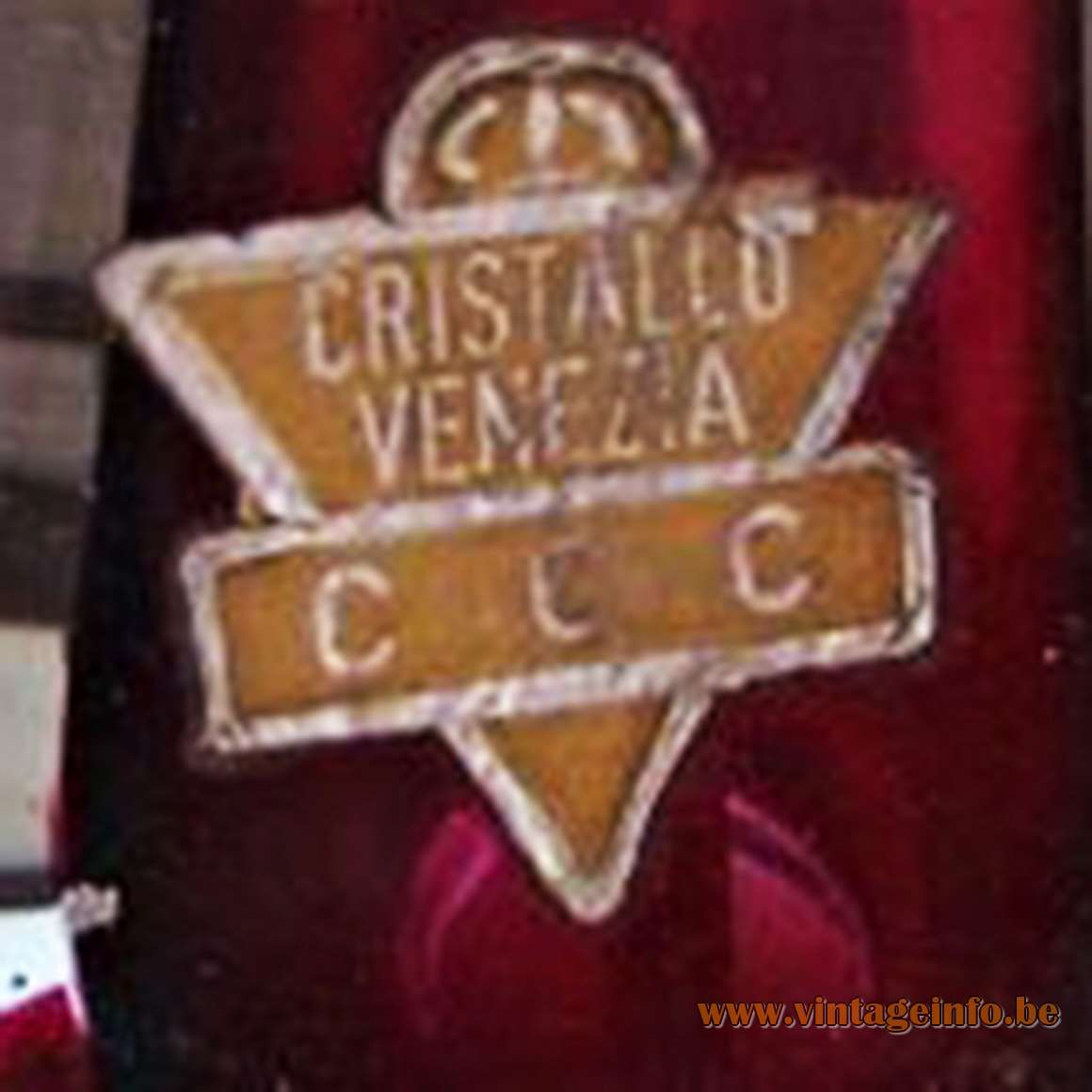 Cristallo Venezia CCC label