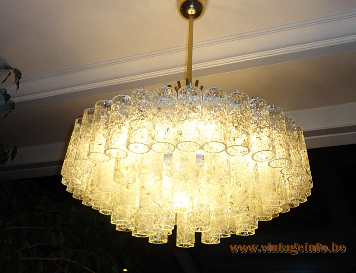 Doria Glass Tubes Chandelier