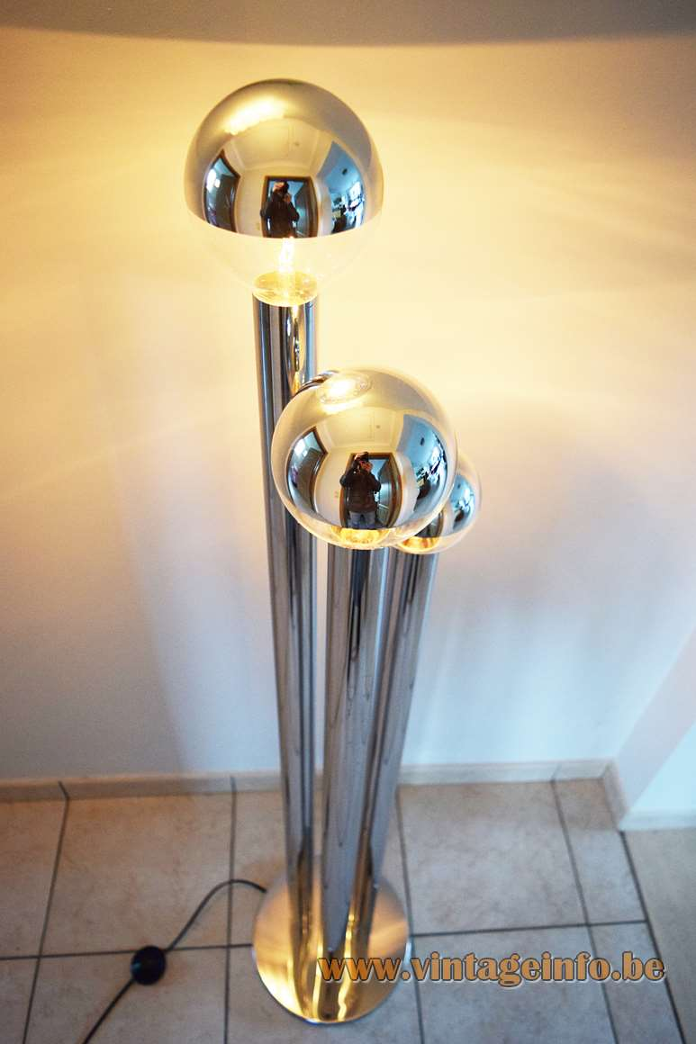 Gaetano Sciolari Chrome Tubes Floor Lamp