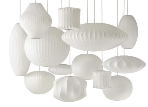 George Nelson Cocoon Bubble Pendant Lamps